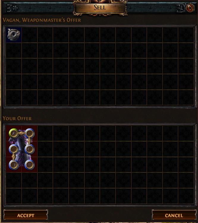 chaos orb vendor recipe